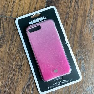 Modal Pink Shimmer Hardshell Case iPhone 7plus